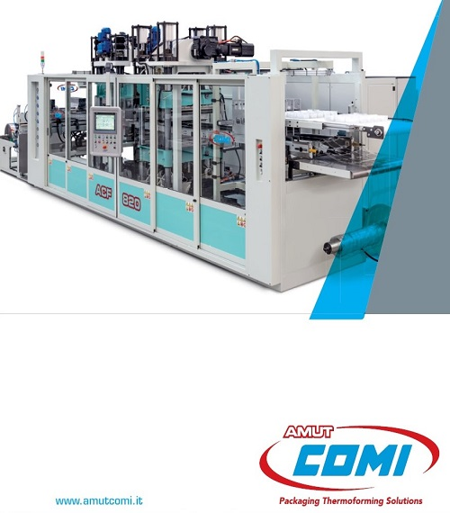 Innovations and unique features of the new series of thermoforming machines Amot Italy